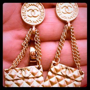 Chanel little purse earrings